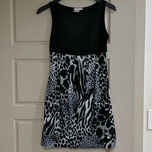Body central animal print party dress